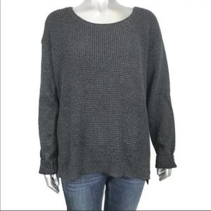Calvin Klein Gray Waffle Knit Long Sleeve Sweater